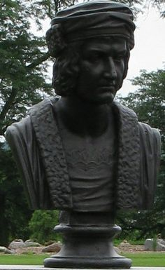 Christopher Columbus Bust in Des Moines, IA Knights Of Columbus, Christopher Columbus, Garden Sculpture, Statue, Outdoor Decor, Art, Art Background, Kunst, Performing Arts