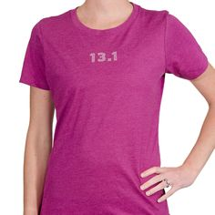 Run your next half marathon in style with our 13.1 Women's T-shirt!