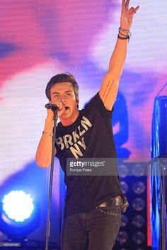 Spanish pop band Dvicio attends the '40 Principales' awards 2014 ceremony on December 12, 2014 in Madrid, Spain.