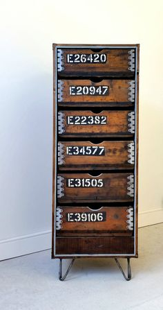 Vintage Industrial storage using up cycled 1930's Ammo boxes, reclaimed pallets and hairpin legs