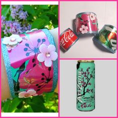 DIY Arizona Green Tea Cuff Bracelet (Soda Can Jewelry)