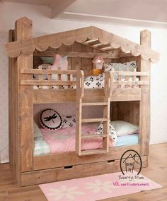 Why Choose a Bunk Bed for Your Youngster? – Bunk Beds for Kids Cheap Bunk Beds, Bunk Beds Small Room, Girls Bunk Beds, Wooden Bunk Beds, Bunk Beds With Stairs, Cool Bunk Beds, Kid Beds, Girls Bedroom, Small Rooms