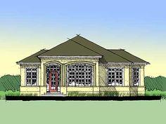1 Plan No: W44023TD Style: Florida Total Living Area: 1,472 sq. ft. Main Flr.: 1,472 sq. ft. Porch, Combined: 504 sq. ft. Bedrooms: 2 Full Bathrooms: 2 Half Bathrooms: None Width: 50' Depth: 56' Maximum Ridge Height: 25' Exterior Walls: 2x4 & Block Ceiling Height:      Main Floor: 12' Standard Foundations: Slab Optional Foundations: Basement ($600), Crawl ($400) Special Collections: Narrow Lot Special Features: 1st Floor Master Suite, Den-Office-Library-Study, CAD Available, PDF