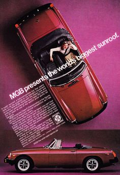 MGB presents the worlds biggest sunroof.
