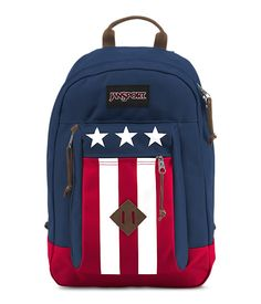The JanSport Reilly backpack features premium Cordura fabric, an internal 15 inch laptop sleeve, a side-entry secondary compartment, a front zippered stash pocket and suede leather trims and haul handle.