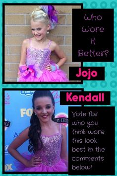 I think they both rocked it, but I think JoJo wore it better.