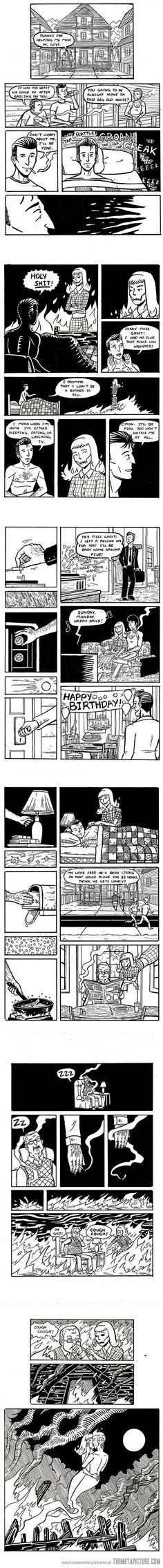 Funny pictures about The Man Who Lives Alone. Oh, and cool pics about The Man Who Lives Alone. Also, The Man Who Lives Alone. Cute Comics, Funny Comics, Sad Comics, Cute Stories, Short Stories, Matsuri Hino, Living Alone, Comics Story, Me Anime