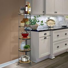 Enclume Handcrafted Round Designer Stand Hammered Steel (Unassembled) HS - The Home Depot New Kitchen, Kitchen Dining, Kitchen Decor, Kitchen Cabinets, Decorating Kitchen, Kitchen Counters, Room Interior, Interior Design Living Room, Cafe Interior