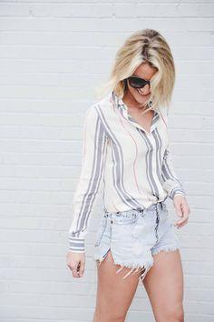 Tommy Hilfiger blouse with @sosageblog