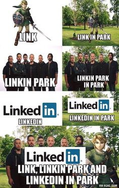 Link, linkin park, and linkedin, in park.