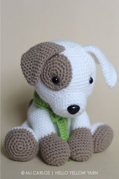 Crochet Amigurumi Puppy Dog PATTERN ONLY Jack by HelloYellowYarn