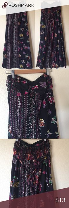 """Boho Cotton Maxi Dress Super cute and so comfy!! 100% cotton. Perfect for summer festival season!! Beach dress too. Measures 46"""" long. Elastic panel in the back fit stretch. Fire Los Angeles Dresses Maxi"""