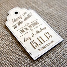 Camdeco - Wooden Save the Date Magnet Luggage Tag 03, £2.50 (http://www.camdeco.co.uk/wooden-save-the-date-magnet-luggage-tag-03/)