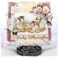Morning all, another sneaky peek for you today …and also I'm revisiting one of my favourite Lili of the Valley . Christmas Nativity, Christmas Angels, Card Making Tips, Making Ideas, Kirigami, Biscuit, Art Pad, Whimsy Stamps, 12 Days Of Christmas