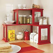 2 tier corner shelf