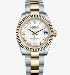 Rolex Datejust Lady 31 Watch: Yellow Rolesor - combination of 904L steel and 18 ct yellow gold – M178273-0072, 31mm, fluted bezel