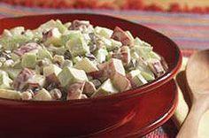 Cremosa ensalada de manzana y nueces Receta