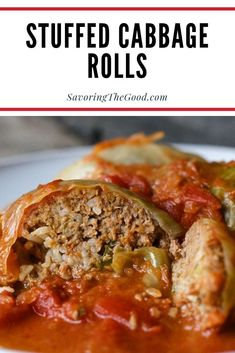 One of the comfort foods of my youth are stuffed cabbage rolls also called Halupki. This is my family's cabbage roll recipe and you will be surprised how easy they are to make. This is the ultimate comfort food from the old country. Cabbage Rolls Polish, Easy Cabbage Rolls, Slow Cooker Cabbage Rolls, Stuff Cabbage Rolls, Cabbage Roll Sauce, Cabbage Steaks, Slow Cooker Recipes, Beef Recipes, Cooking Recipes