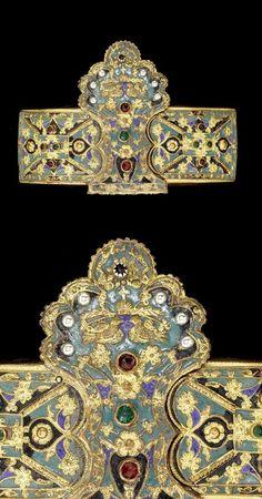 Greece | Belt buckle; gemset with enamel | ca. 18th century