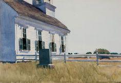 Edward Hopper, Methodist Church (Church Yard, Cape Elizabeth), 1929. Watercolor on paper, 13 15/16 x 19 15/16 in. (35.4 x 50.6 cm). Tacoma Art Museum