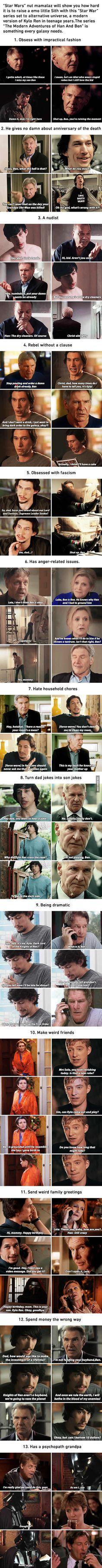 Viral pictures of the day: The Modern Adventures Of Han Solo And Kylo Ren Are The Show Every Galaxy Needs (By Mamalaz)