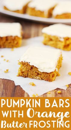 Pumpkin Bars with Or