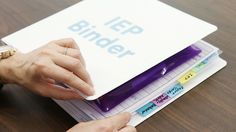 See how to make an IEP binder for your child. Follow the steps in this video to learn what documents you need and what order to put them in.