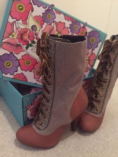 Brand new with box etc Poetic London tweed boots Sold out in stores and online U.K. Size 5 Stunning | eBay!