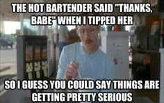 When I tip a hot bartender…