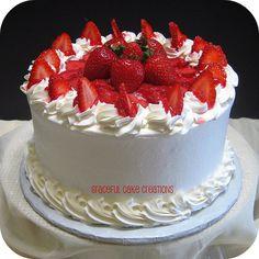pictures of custom designed cupcakes, mini cakes, petit fours and dessert cakes Strawberry Cream Cakes, Cake Creations, Mini Cakes, Cake Designs, Cake Recipes, Cupcakes, Baking, Desserts, Image