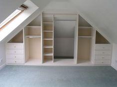 Idée décoration Salle de bain  Résultat de recherche d'images pour installing shelving in attic bedroom