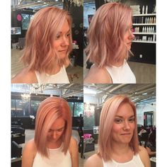 """""""From a natural level 2, I've brought this beauty to a beautiful rose gold using @redken5thave and @olaplex what do you think?! @1_missing_sock…"""""""