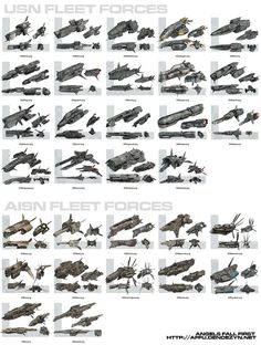 AFF Fleet Forces by strangelet http://strangelet.deviantart.com/art/AFF-Fleet-Forces-34188780