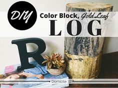 DIY Color block Log | Inexpensive Home Decor Ideas | Using Nature in Decor