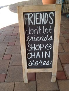 Shop Local Inspiration: Be a Good Friend