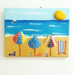 Stone painting on canvas by Nurgulmermerci on Etsy