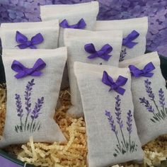 Make your guests feel extra special with aromatic lavender sachet wedding favors from Foxhollow Herb Farm. Lavender Crafts, Lavender Bags, Lavender Sachets, Recycled Crafts, Handmade Crafts, Diy And Crafts, Sewing Crafts, Sewing Projects, Techniques Couture