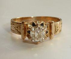 Enchanting Victorian Enameled Engagement Ring from beaconhilljewelers on Ruby Lane
