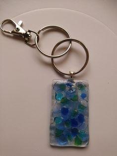 "Fused Glass Key Chain. The 'Confetti"" Collection #Pendant"