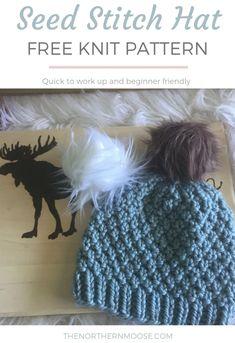 Beanie Knitting Patterns Free, Beginner Knitting Patterns, Knitting For Beginners, Knit Patterns, Free Knitting, Knitting Ideas, Knitting Stitches, Circular Knitting Needles, Knitting Machine