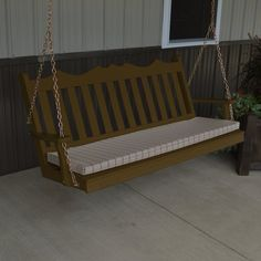 Outdoor A & L Furniture Yellow Pine Royal English Deluxe Garden Swing Coffee - 414-CP COFFEE