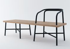 Table Bench Chair, by Sam Hecht, for Established & Sons