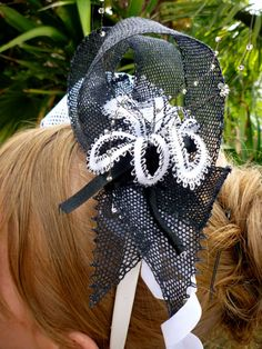 Bobbin Lace Fascinator - great for weddings as well as the Ascot races.
