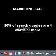 From this marketing fact we can understand that we should pick long tail and middle tail keywords, while finalizing our keywords for seo. Keywords should be plan accordingly and the seo experts should use combination of long tail, short tail, middle tail keywords. As we know that 50% of the the search queries are 4 words or more this strategy is important. #marketingenthu #marketingenthufacts #keywordanalysis #keywords #seo #searchengineoptimization #searchqueries #longtailkeywords Seo Keywords, Search Engine Optimization, Acting, Middle, Facts, Marketing, How To Plan