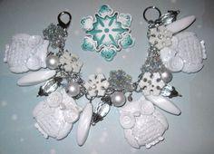 Snowy Owl Bracelet Owl Charm Bracelet Winter Charm by Jynxx #owls #jewelry #halloweenartistbazaar