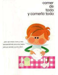 "Comer de todo, ""Cartilla escolar de Alimentación""1973 de F. Martínez Chávez"