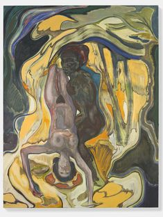 From Berkeley Art Museum and Pacific Film Archive, Michael Armitage, Mangroves Dip Oil on Lubugo bark cloth, 87 × 67 in Painting Inspiration, Art Inspo, Wow Art, Surreal Art, Pretty Art, Contemporary Paintings, Figurative Art, Art Museum, Les Oeuvres
