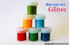Make your own Glitter…using only 2 ingredients!