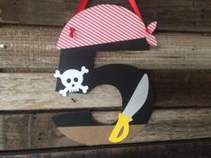 Pirate Party Paper Sign Under the Sea Party by BlueOakCreations