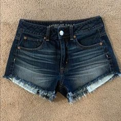 American Eagle Hi Rise Jean Shorts on Mercari 7th Grade Outfits, Diesel Jeans, Cute Shorts, American Eagle Jeans, Aeo, Vintage Denim, Laser Engraving, Jean Shorts, Size 2
